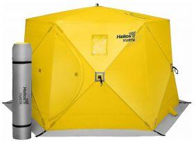 Палатка всесезонная Helios ЮРТА (баня) yellow