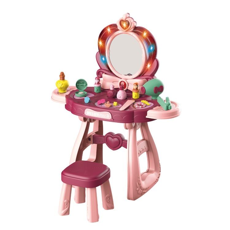 Игровое трюмо для девочки туалетный столик со стульчиком (8221С)