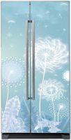 Наклейка  на холодильник - Ажурная красота одуванчика Интерьерные наклейки