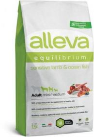 Alleva Equilibrium Sensitive Lamb & Ocean Fish Mini/Medium (Аллева Эквилибриум Сенситив  Ягненок и Океаническая Рыба для собак мелких и средних пород) 2кг