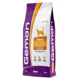 Gemon Cat Корм для взрослых кошек с курицей и индейкой 10 кг