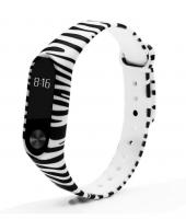 Силиконовый ремешок для Xiaomi Mi Band 2 ( Зебра )