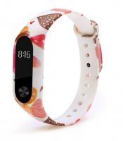 Силиконовый ремешок для Xiaomi Mi Band 2 ( Сердечки )