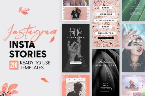 [PSD] InstaStories for Instagram / 210 Шаблонов для сторис