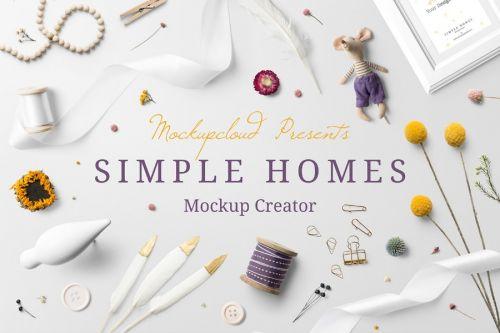 [Creative Market] Simple Homes Mockup Creator, 2018