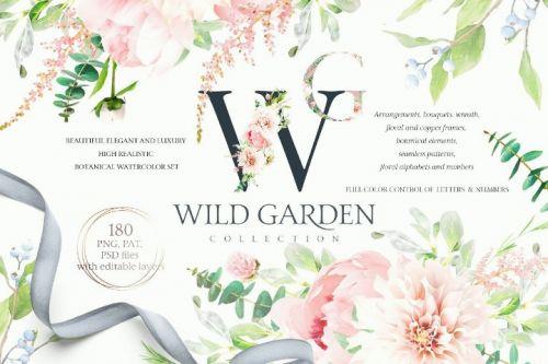 [Creative Market] Акварельный ботанический набор / Watercolor Botanical set (Tatiana Lyubimova)