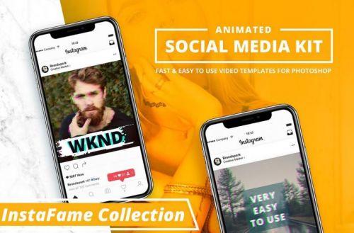 [creativemarket] Инстаграм Видео шаблоны / Instagram Video Photoshop Templates
