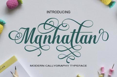 Современный каллиграфический шрифт с 833 Глифами
