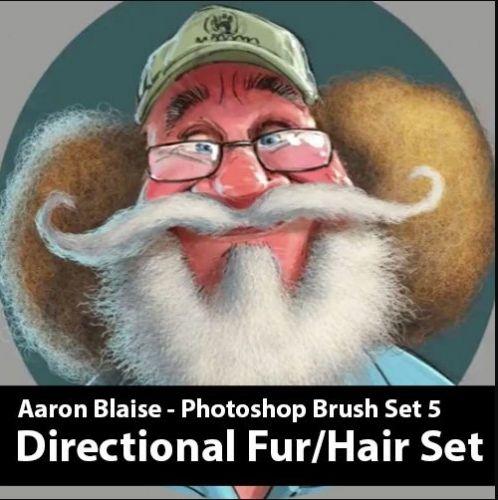 Кисти для фотошоп. Мех / Custom Photoshop Brushes. Set 5 (Directional Fur Brushes) (Аарон Блейз)