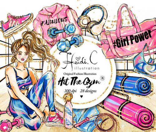 Fitness Clip Art/Фитнес клип арт (HeidiCillustration)