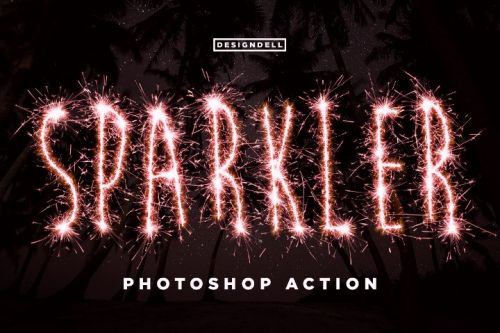 Эффект Бенгальского Огня для Photoshop (creativemarket.com)