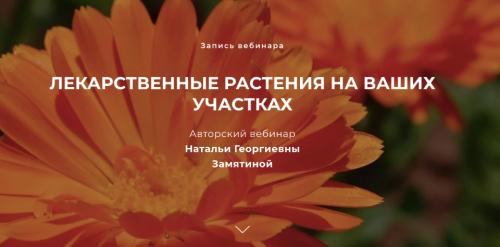 Лекарственные растения на ваших участках (Наталья Замятина)