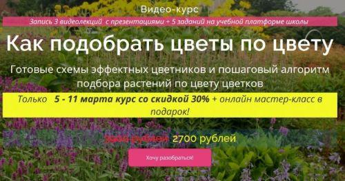 Как подобрать цветы по цвету (Наталья Мягкова)