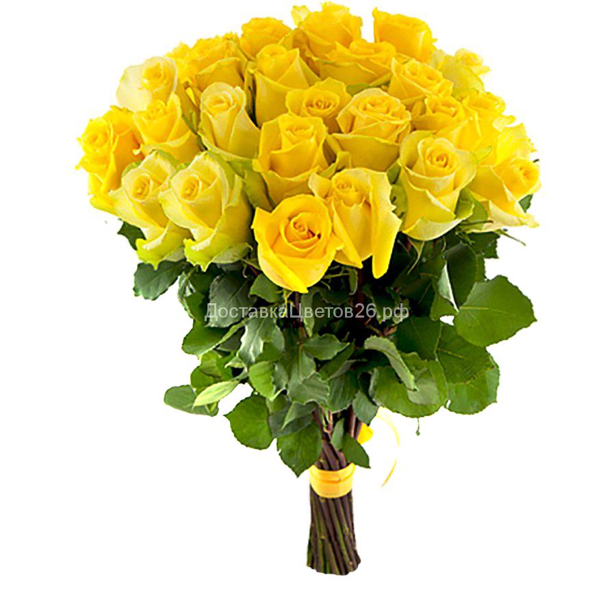 Букет из желтых роз (Россия 50, 60, 70 см)