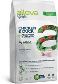 Alleva Holistic Chicken & Duck + Aloe vera & Ginseng Medium (Аллева Холистик Курица, Утка, Алое вера и Женьшень для собак средних пород) 2кг