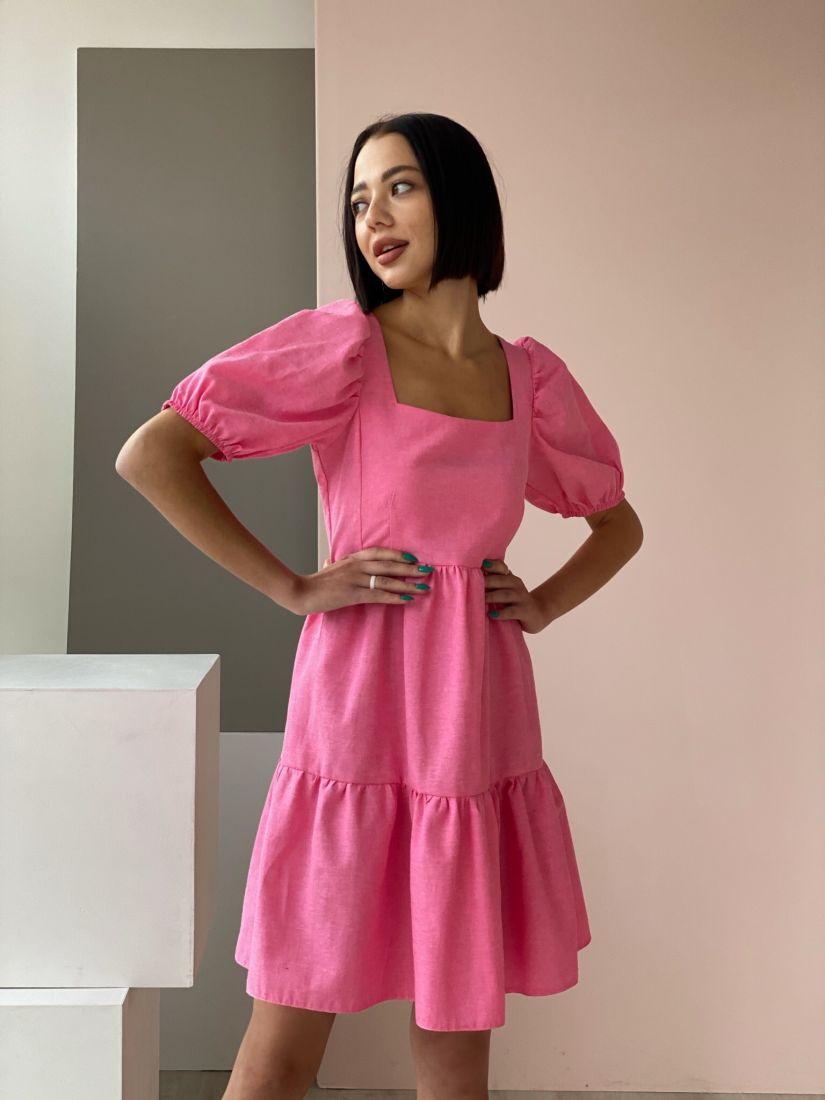 4554 Платье-парашют ярко-розовое