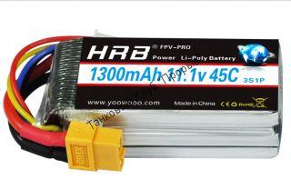 Аккумулятор Li-Po HRB 1300мач 45с