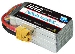 Аккумулятор Li-Po HRB 1500мач 100с