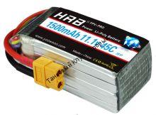 Аккумулятор Li-Po HRB 1500мач 45с