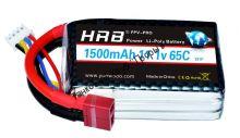Аккумулятор Li-Po HRB 1500мач 65с