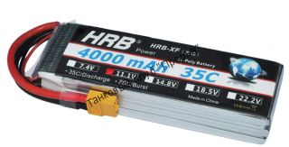 Аккумулятор Li-Po HRB 4000мач 35с