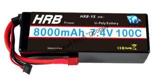 Аккумулятор Li-Po HRB 8000мач 100с БОКС