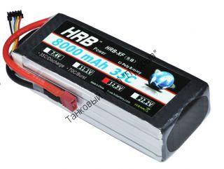 Аккумулятор Li-Po HRB 8000мач 35с