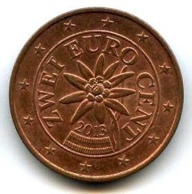 Австрия 2 евроцента 2013
