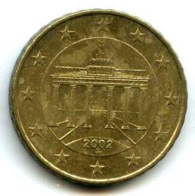 Германия 10 евроцентов 2002 G