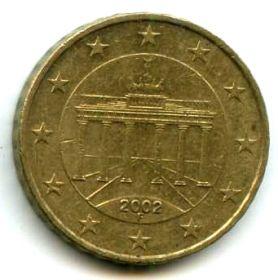 Германия 10 евроцентов 2002 F