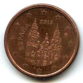 Испания 1 евроцент 2013