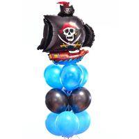 Воздушные шары в пиратском стиле