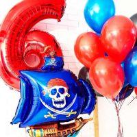 Комплект шаров пиратский с цифрой