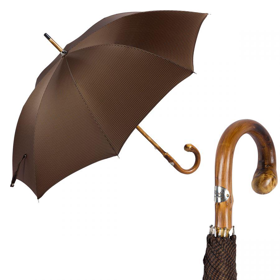 Зонт-трость Pasotti Bark Chestnut Pepita Morrone