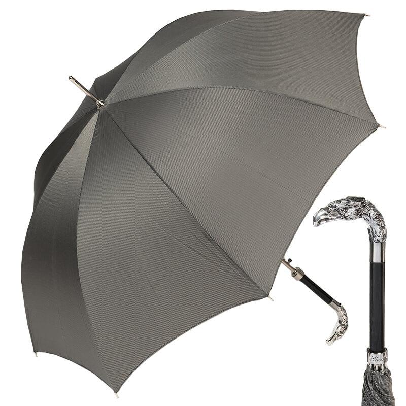 Зонт-трость Pasotti Eagle Silver StripesS Grey