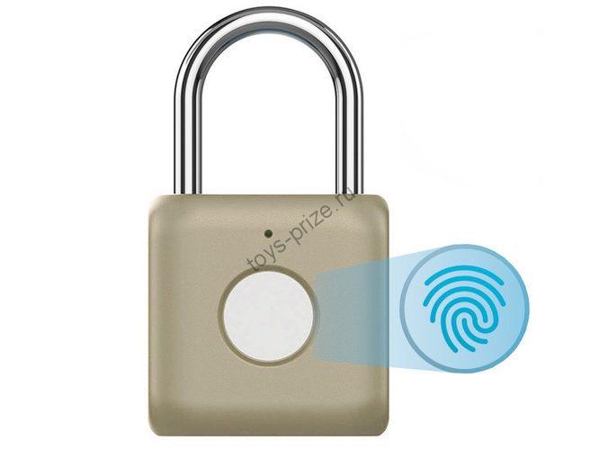 Биометрический навесной замок Xiaomi smart fingerprint lock kitty gold