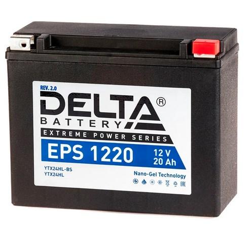 Мото аккумулятор АКБ Delta (Дельта) EPS 1220 20Ач о.п YTX24HL-BS, YTX24HL