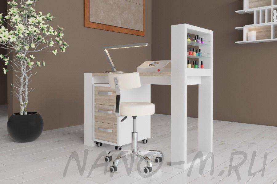 Маникюрный стол Matrix с подставкой для лаков