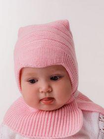 """ММ Шапка дет. """"Капор Мурлыка-мини"""" хб подкл,  розовый"""