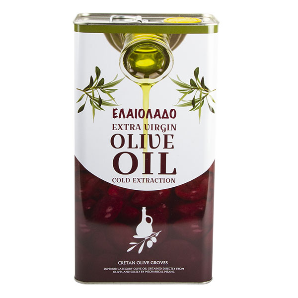 Масло оливковое Elaiolado Extra Virgin холодного отжима 5 л