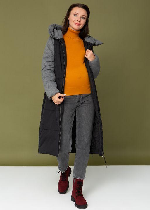 """Куртка зимн. 2в1 """"Бретань"""" для беременных; цвет: черный"""