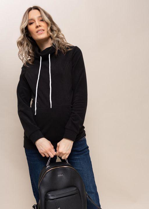 """Толстовка флисовая """"Алексис"""" для беременных и кормящих; цвет: черный"""