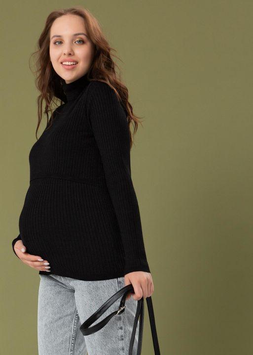 """Водолазка """"Шэйла"""" для беременных и кормящих; цвет: черный"""