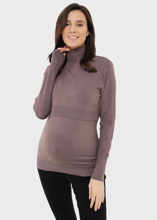 """Джемпер """"Синтия"""" для беременных и кормящих; цвет: кофейный"""