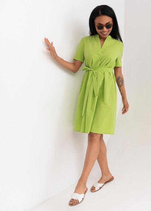 """Платье """"Мари"""" для беременных и кормящих; цвет: лайм"""