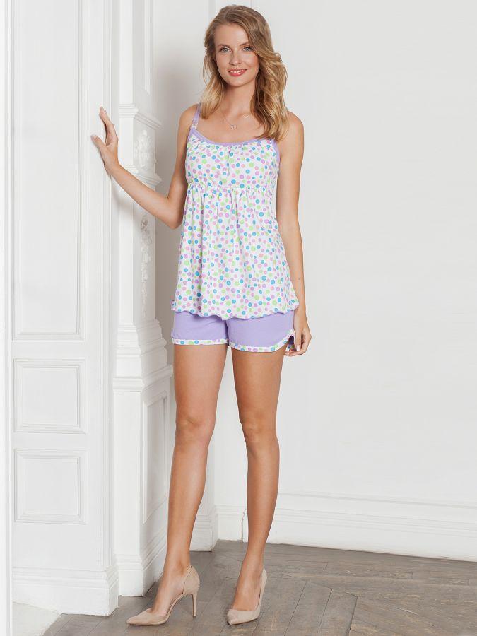 Пижама Jane сирень для беременных и кормления