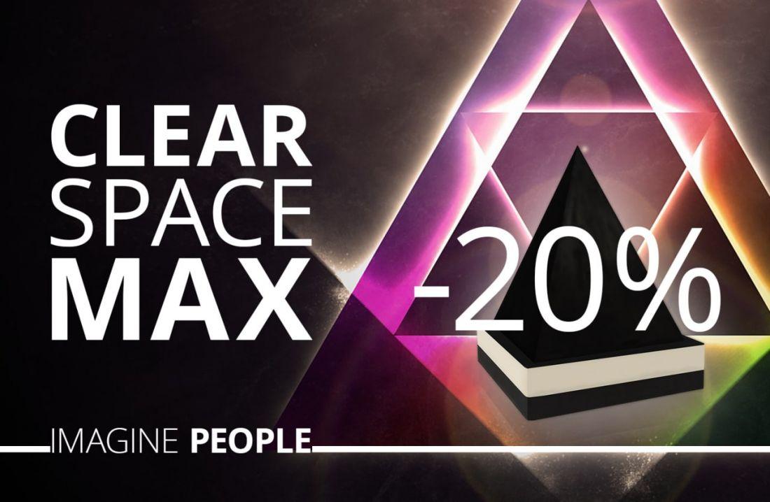 Скидка 20 % на Сlear Space MAX ( пирамида мах)