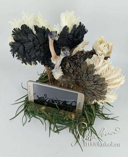 Запись закрытого МК 'Страусиные танцы' (подставка под телефон) Фом-арт (Татьяна Шмелева)