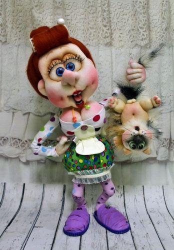 Запись закрытого МК по созданию Кукольной композиции «Кто в доме хозяин?» (Елена Лаврентьева)