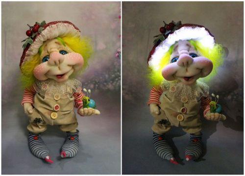 Запись трехдневного закрытого МК по созданию куклы-светильник «Грибок Мухоморкин»(Елена Лаврентьева)